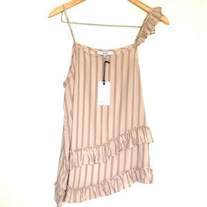 Fluttered asymmetrical camisole size M